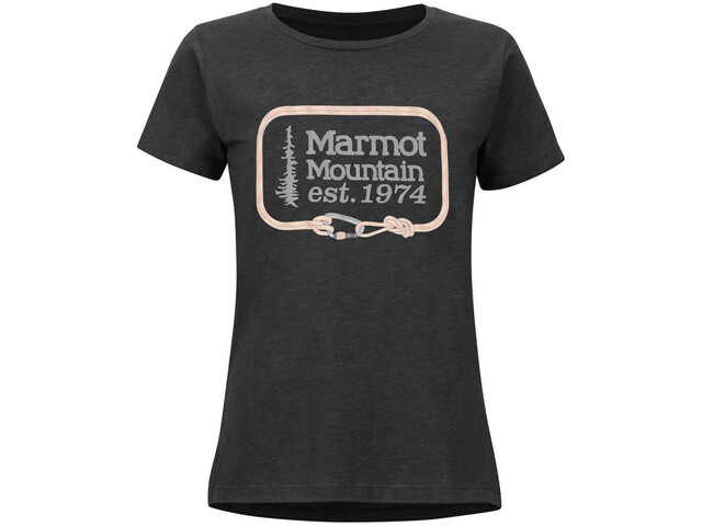 Marmot Ascender Camiseta Manga Corta Mujer, gris